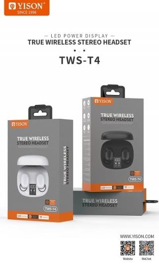 Наушники bluetooth YISON Celebrat T4 TWS