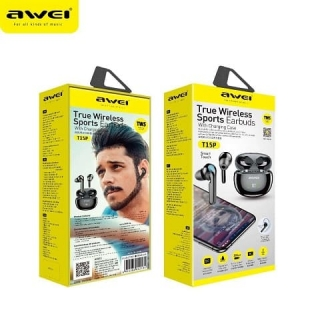 Наушники Bluetooth AWEI T15P TWS IPX5 BT5.1, 45/390mAh, 7Hours