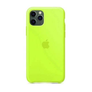 Накладка Silicone Case Full iPhone 11 lawn green (56)