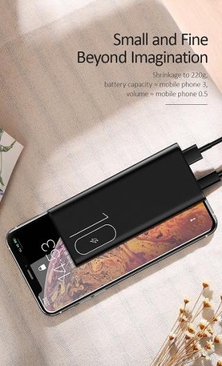 Power bank USAMS US-CD93 PB31 Dual USB Mini 10000mAh