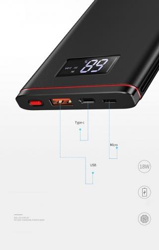 USAMS US-CD62 PB6 LED Display PD 10000mah