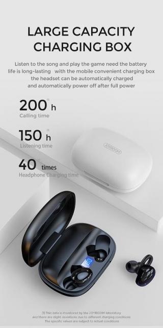 Наушники Bluetooth JOYROOM JR-TL2 large capacity digital display TWS