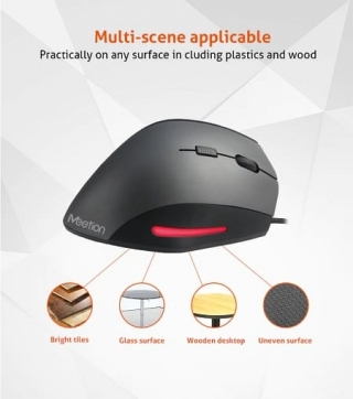 Meetion MT-M380 Vertical mouse grey