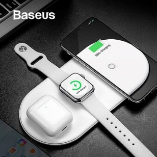 БЗУ BASEUS Smart 3in1 Wireless Charger For Phone+Watch+Pods 18W MAX