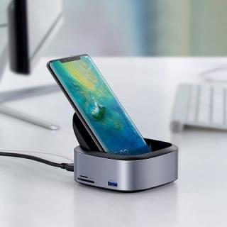 Док станция Baseus Mate Docking Type-C Mobile Phone Intelligent HUB Expanded Socket