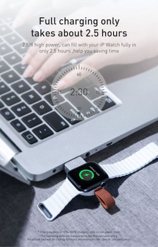 БЗУ Baseus Dotter Wireless Charger for Watch Lightning/ Black