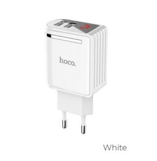 СЗУ Hoco C39A Enchanting (EU) (2USB, 2.4A) white