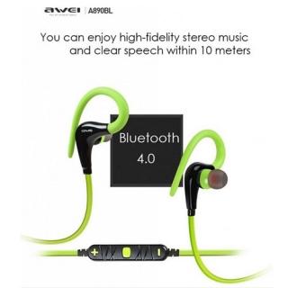 Наушники AWEI A890BL Bluetooth green