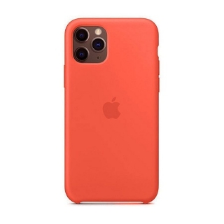 Накладка Silicone Case Full iPhone 11 peach (30)