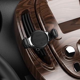 Автодержатель Hoco S1 in-car wireless charging metal gray