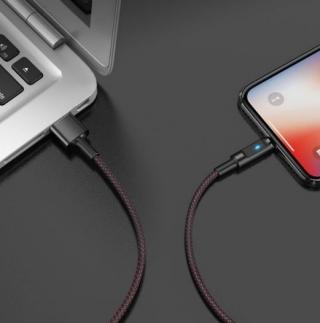 Кабель Hoco U47 Essence core smart power Lightning black