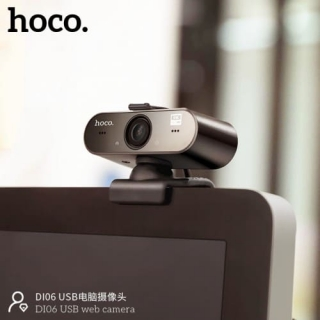 Web Камера HOCO USB Computer Camera DI06 HD, 4MP, 1.5M, 360°