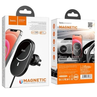 Автодержатель HOCO CA90 Powerful magnetic wireless charging car holder для iPhone 12