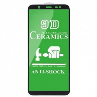 Защитное стекло Ceramic Samsung J8 2018 Black