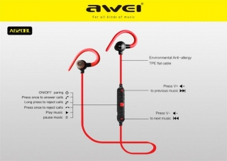 Наушники AWEI A620BL Bluetooth green