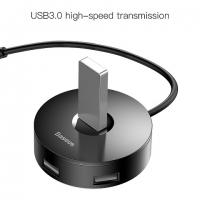 HUB BASEUS USB 3.0 to 1USB 3.0+3USB 2.0 round box 1m