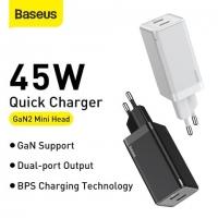 СЗУ Baseus GaN2 Quick Charger C+C 45W EU
