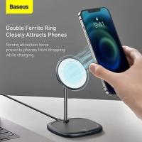БЗУ Baseus Swan Magnetic Desktop Bracket Wireless Charger (suit for IP12)