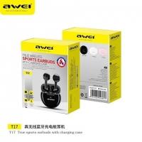 Наушники Bluetooth AWEI T17 TWS BT5.0, 32/250mAh, 2.5Hours