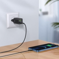 Адаптер сетевой HOCO N13 Type-C to Lightning cable Bright charger set N13