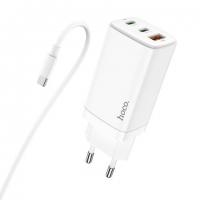 СЗУ HOCO N16 Scenery 65W three-port (2C1A) charger set (Type-C to Type-C)