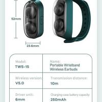 Наушники Bluetooth Remax Wristband Wireless Earbuds TWS-15