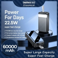 Power bank REMAX Hunergy Series 22.5W Fast Charging 60000mAh RPP-173 / black