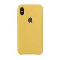 Накладка Silicone Case Full iPhone X, XS gold (29)