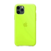 Накладка Silicone Case Full iPhone 11 lawn green (56)
