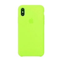 Накладка Silicone Case Full iPhone XR lawn green (56)