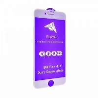 Защитное стекло 5D 9H iPhone 7,iPhone 8 white с сеткой на динамик