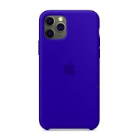 Накладка Silicone Case Full iPhone 11 shiny blue (44)
