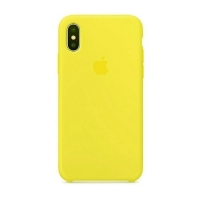Накладка Silicone Case iPhone X, XS canary yellow (50)