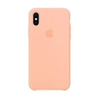 Накладка Silicone Case Full iPhone X, XS pink (12)