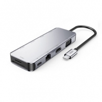 USB HUB JOYROOM SH-C2 Type-c 5-in-1 docking station (USB3.0*3+HDMI+PD) Dark Gray