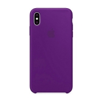 Накладка Silicone Case Full iPhone X, XS purple (34)