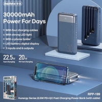 Power Bank REMAX Hunergy Series 22.5W QC+PD  30000mAh RPP-199 / blue