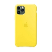 Накладка Silicone Case Full iPhone 11 Pro Max canary yellow (50)