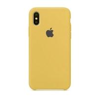 Накладка Silicone Case iPhone X, XS gold (29)