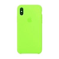 Накладка Silicone Case iPhone X, XS green (32)