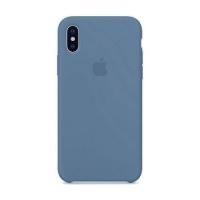 Накладка Silicone Case iPhone X, XS cornflower (53)