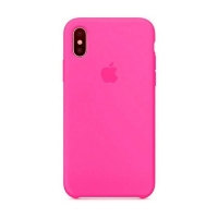 Накладка Silicone Case Full iPhone X, XS shiny pink (38)