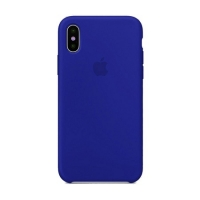 Накладка Silicone Case Full iPhone X, XS shiny blue (44)