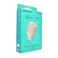 СЗУ 1USB Borofone BA17A Centrino QC3.0 white