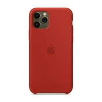 Накладка Silicone Case Full iPhone 11 Pro Max begonia red (57)