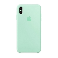 Накладка Silicone Case Full iPhone X, XS sea blue (21)