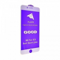 Защитное стекло 5D 9H iPhone 7 Plus,8 Plus white с сеткой на динамик