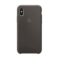 Накладка Silicone Case iPhone X, XS dark gray (15)