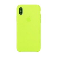 Накладка Silicone Case Full iPhone X, XS shiny green (40)