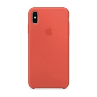 Накладка Silicone Case Full iPhone X, XS peach (30)